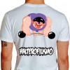 Camiseta - Halterofilismo - Atleta Halterofilista Monstro Barra com Peso Costas Branca