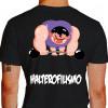 Camiseta - Halterofilismo - Atleta Halterofilista Monstro Barra com Peso Costas Preta