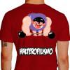 Camiseta - Halterofilismo - Atleta Halterofilista Monstro Barra com Peso Costas Vermelha