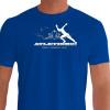 Camiseta - Corrida - Estampa Atletismo Corredor Explosão Músculos Corrida Lançamentos e Saltos Frente Azul