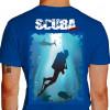 Camiseta - Mergulho - Mergulhando no Paraíso Paisagem Natural - azul