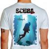 Camiseta - Mergulho - Mergulhando no Paraíso Paisagem Natural - branca