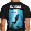 Camiseta - Mergulho - Mergulhando no Paraíso Paisagem Natural - preta