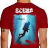 Camiseta - Mergulho - Mergulhando no Paraíso Paisagem Natural - vermelha