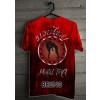 Camiseta - Muay Thai - Diversos Golpes com Joelhada Frontal Central Khao Trong Costas Vermelha
