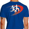Camiseta - Corrida - Corredor e Corredora Running Just Run Texto Corrida Hoje Vitória Amanhã Costas Azul