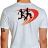 Camiseta - Corrida - Corredor e Corredora Running Just Run Texto Corrida Hoje Vitória Amanhã Costas Branca