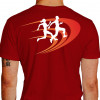 Camiseta - Corrida - Corredor e Corredora Running Just Run Texto Corrida Hoje Vitória Amanhã Costas Vermelha