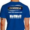 Camiseta - Corrida - Treino Diversos Atletas Correndo Cansar o Corpo e Descansar a Mente Costas Azul