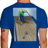 Camiseta - Bocha - Jogador Lançando Bola Costas Azul