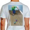 Camiseta - Bocha - Jogador Lançando Bola Costas Branca