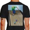Camiseta - Bocha - Jogador Lançando Bola Costas Preta