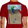 Camiseta - Bocha - Jogador Lançando Bola Costas Vermelha