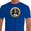 Camiseta - Corrida - Largada Atletismo Frase Correre Per Non Rolare Frente Azul