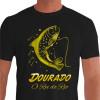 Camiseta - Pesca Esportiva - Dourado Saltando Rei do Rio - preta