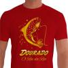 Camiseta - Pesca Esportiva - Dourado Saltando Rei do Rio - vermelha
