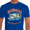 Camiseta - Pesca Esportiva - Peixe Robalo Técnica Conhecimento Paciência - azul