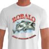 Camiseta - Pesca Esportiva - Peixe Robalo Técnica Conhecimento Paciência - branca