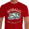 Camiseta - Pesca Esportiva - Peixe Robalo Técnica Conhecimento Paciência - vermelha