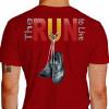 Camiseta - Corrida - Tênis de Corrida Pendurado Descansando The Run to Live Costas Vermelha