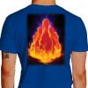 Camiseta - Boliche - Pinos Efeito Fogo Costas Azul