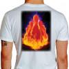 Camiseta - Boliche - Pinos Efeito Fogo Costas Branca