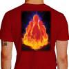 Camiseta - Boliche - Pinos Efeito Fogo Costas Vermelha