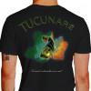 Camiseta - Pesca Esportiva - Peixe Tucunaré Mapa da Amazônia No Visual a Adrenalina vai a Mil - preta