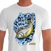 Camiseta - Pesca Esportiva - Pescaria Peixe Xareu - branca