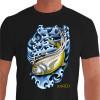 Camiseta - Pesca Esportiva - Pescaria Peixe Xareu - preta