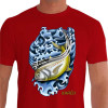 Camiseta - Pesca Esportiva - Pescaria Peixe Xareu - vermelha