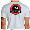 Camiseta - Aikido - Treinamento Dois Parceiros Neutralizar o Ataque com uma Técnica Costas Branca