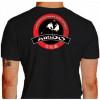 Camiseta - Aikido - Treinamento Dois Parceiros Neutralizar o Ataque com uma Técnica Costas Preta