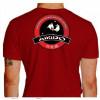 Camiseta - Aikido - Treinamento Dois Parceiros Neutralizar o Ataque com uma Técnica Costas Vermelha