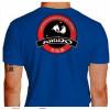 Camiseta - Aikido - Treinamento Dois Parceiros Neutralizar o Ataque com uma Técnica Costas Azul