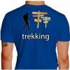 Camiseta - Trekking - Trekkeiro na Caminhada Placas Indicando Costas Azul