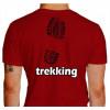 Camiseta - Trekking - Pegada Bota Costas Vermelha