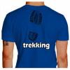 Camiseta - Trekking - Pegada Bota Costas Azul