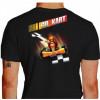Camiseta - Kart - Adrenalina e Velocidade Máxima Go Kart Costas Preta