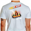 Camiseta - Kart - Adrenalina e Velocidade Máxima Go Kart Costas Branca