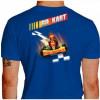 Camiseta - Kart - Adrenalina e Velocidade Máxima Go Kart Costas Azul