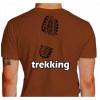Camiseta - Trekking - Pegada Bota Costas Marrom